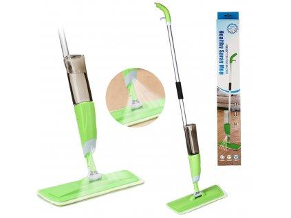 HK Spray Mop 360° Microfiber Floor Spray Mop Cleaner Starter W Integrated Spray & Refillable 600Ml Capacity Bottle