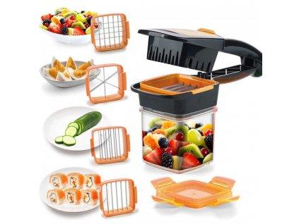 Multifunkční kráječ zeleniny a ovoce 5v1 - Quick oranžový