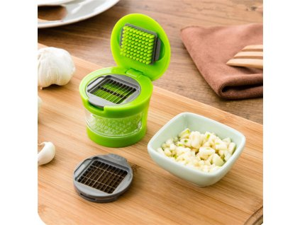 Kitchen Vegetable Tools Mini Garlic Press Presser Onion Chopper Garlic Mincer Slicer Dicer Grater 4