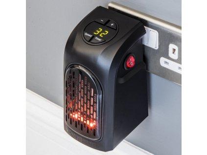 Teplovzdušný mini ventilátor do zásuvky