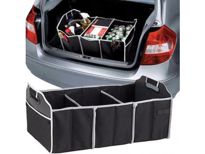 102491 prehledny 3dilny organizer do kufru auta slozitelny