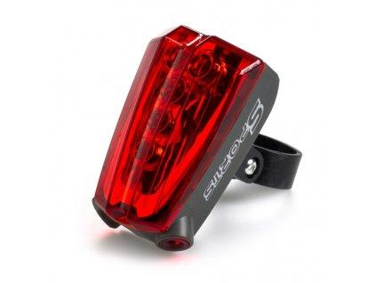 Bezpečnostní 5x LED světlo s laserem na kolo / motorku