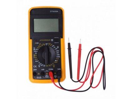 Digitální multimetr pro proudové / napěťové / kapacitní / odporové měření DT9205A