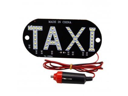 Svítící LED tabulka TAXI na sklo 12V