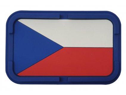 Protiskluzová podložka do auta - česká vlajka