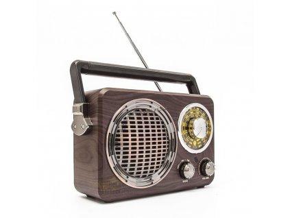 Přenosné dobíjecí retro rádio MK-612