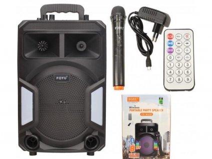 111806 prenosny multimedialni bezdratovy party reproduktor s mikrofonem fo m629 br3170