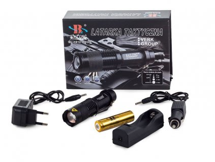 eng pl Bailong Tactical Flashlight Cree Zoom Xm L3 U3 1812 296 2 3