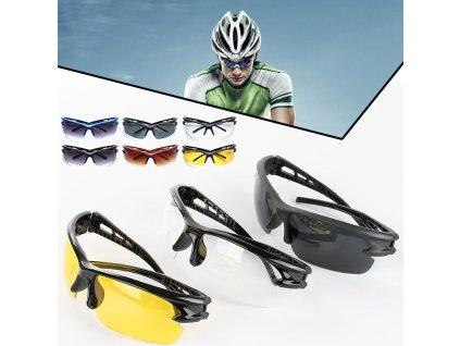 Ochranné cyklistické brýle UV400 (Varianta Černá)