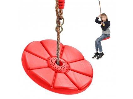 eng pl Garden swing for children round disc flower 2545 1