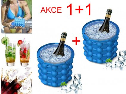 1335 101042 1 0 1pc silicone ice bucket durable drink wine rapid cooling storage space saving seaside travel springtime outing 1