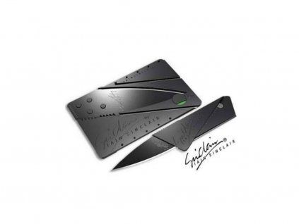 Stylový nůž schovaný v kartě