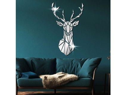 0042719 zrcadlova samolepka na zed jelen