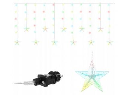 111660 1 vanocni svetelny retez 108 led hvezdy 7 8m