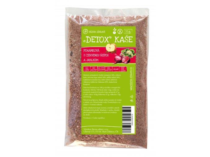 detox kase pohankova s cervenou repou a jablkem