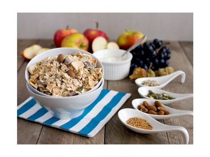 Bezva müsli špaldové s jablky a ořechy (hmotnost 1000g)