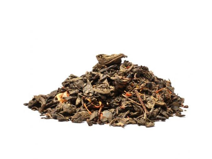 Krvavý pomeranč zelený čaj (Hmotnost 100 g)