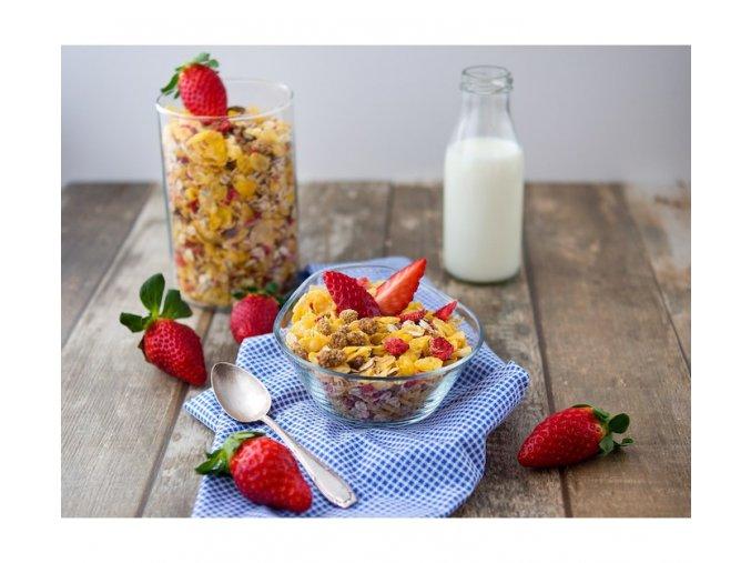 Bezva müsli  jahoda a moruše bez lepku (hmotnost 1000 g)
