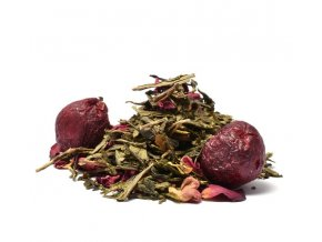Wild Cherry zelený čaj (Hmotnost 100 g)