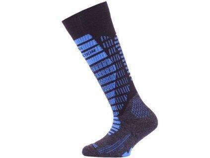 lasting detske merino lyzarske ponozky sjr modré
