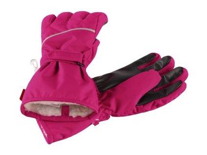 REIMA HARALD CRANBERRY PINK dětské lyžařské rukavice