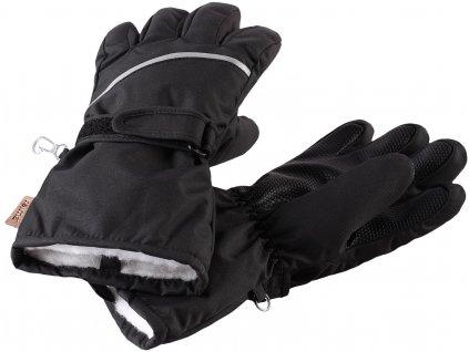 REIMA HARALD BLACK dětské lyžařské rukavice