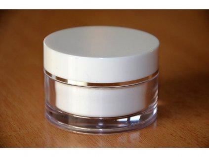 Doza Simple 50 ml bílá stříbrný proužek (2)