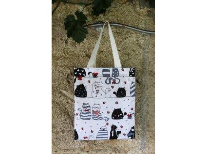 plátěná taška kočky velké