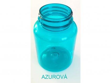200 ml doza PET Color s víčkem azurová