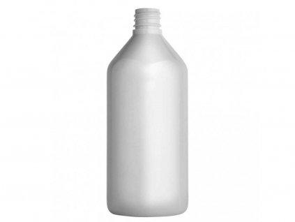 Lahvička PET bílá 215 ml včetně bílého uzávěru 18 mm