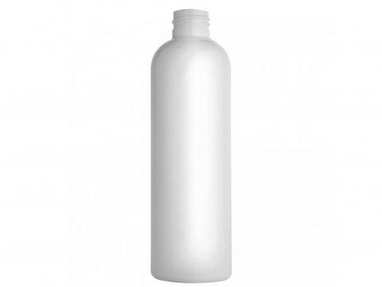 Lahvička PET 250 ml bílá závit 24 mm bez uzávěru
