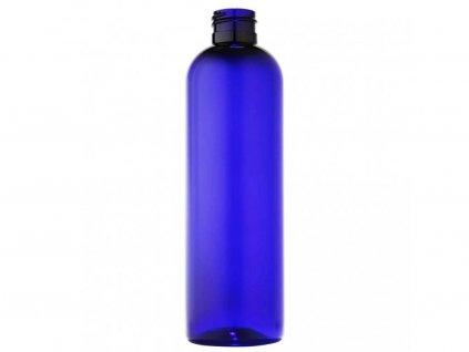 Lahvička PET 250 ml modrá závit 24 mm bez uzávěru