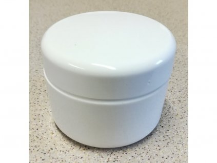 Kosmetická doza 100 ml dvouplášťová bílá