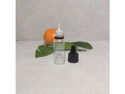 Lahvička E Liquid 10 ml čirá s černým dětským bezpečnostním uzávěrem KISI 4