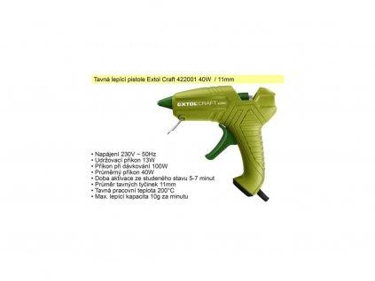 Pistole tavná Extol Craft 40 W 11 mm