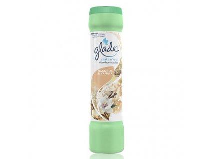 Glade Shake Vac Magnolia a Vanilka vonný prášek na koberce 500 g