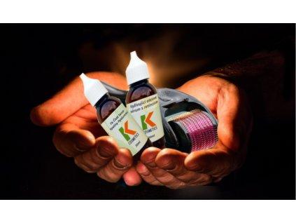 2+1 zdarma - kosmetická sada - Kyselina hyaluronová 50ml + Výživové olejové sérum s retinolem 50ml + zdarma Derma váleček