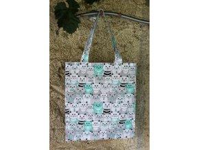 plátěná taška kočky zelená