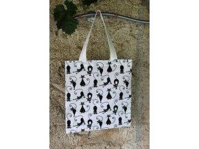 plátěná taška kočky malé