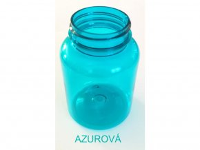 200 ml doza PET Color s víčkem azurová