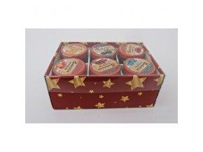 vánoční box červený 6 ks