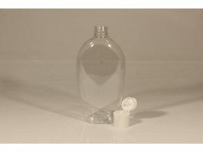 Lahvička PET OMEGA 300 ml transparent s víčkem průměr 24 mm