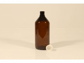 Lahvička PET hnědá (lékovka) 215 ml uzávěr 18mm