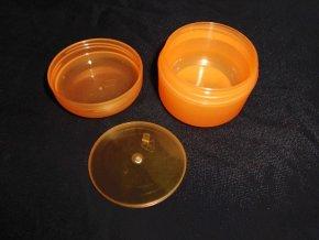 Kosmetická doza 50 ml dvouplášťová oranžová 1