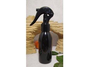PET láhev RIGOLETTO 100 ml černá s mini rozprašovačem 24 410 3