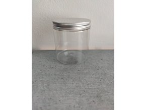 250 ml dóza čirá se stříbrným šroubovacím víčkem a s EPE vložkou 1