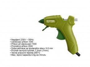 Pistole tavná Extol Craft 7,2mm, 25W