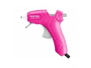 Pistole tavná Extol Craft 7,2mm, 25W, růžová