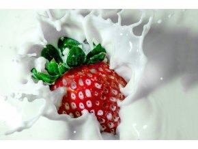 jahoda mléko