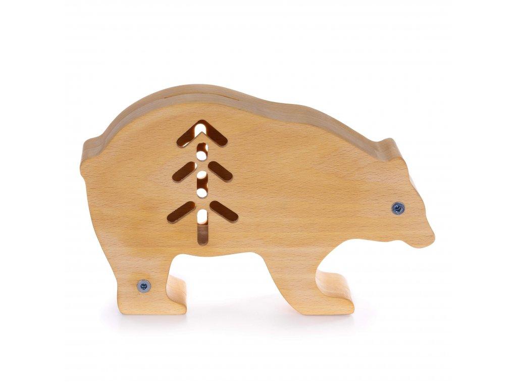 Dřevěná pokladnička - Medvídek